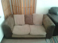 Two seater sofa, very comfortable and low to the ground