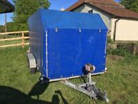 Car transporter trailer, Covered, Winch,