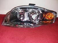 New Audi A4 Headlights B7 Amber Pair of Headlight Headlamps