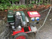 diesel petter stationary generator 3kva hand wined start