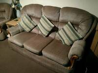 3 Seater sofa and arm chair