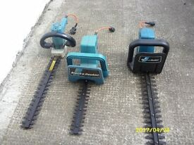 3 black and deckers hedge trimmers