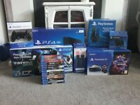 Playstation 4 Pro (1TB) with games and VR unit with accessories