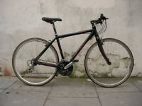 Mens Hybrid/Commuter Bike by Apollo, Black, Carbon Fork, Medium Size, JUST SERVICED/ CHEAP PRICE!!!