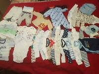 Baby boy bundle clothes newborn and 0-3 months 42 items