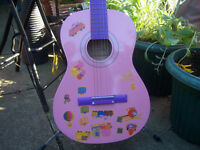 Ready Ace Pink Acoustic Guitar 3/4 size.
