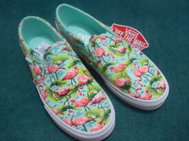 Ladies Vans Asher Slip CVS Slip Flamingo Mint size 4uk