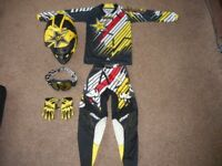 Kids Thor/Rockstar Motocross/Motorcycle Gear Size: 9-11 Years Old