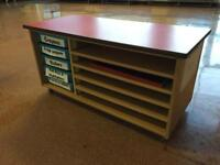 Drawer and shelved unit