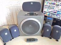 Logitech Z-680 Computer Speakers THX Certified 5.1 Surround Sound System