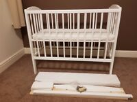 Wooden next to me crib bedside cot.