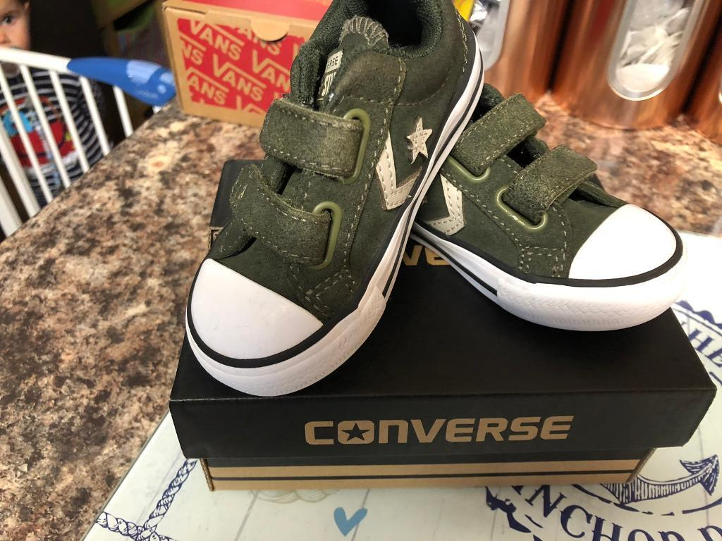 3a86cd9a9f9d Boys converse trainers size 5 toddler. Plymouth ...