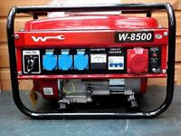 Brand new boxed Wuzburg W 8500 2016 edition petrol generator. Unused surplus to requirements.