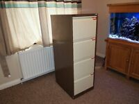 Lockable metal filing cabinet