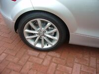 Genuine Audi TT alloys and Bridgestone tyre set will fit lots of models in the VAG range £225