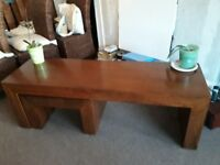 Next Dakota mango long coffee table with 2 smaller tables