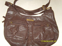 Brown Kangol handbag