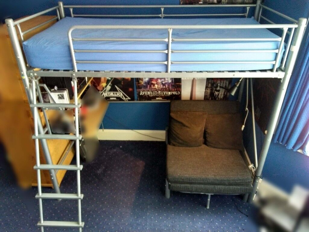 Used Bunk Bed And Mattress For Sale Including Futon In Good