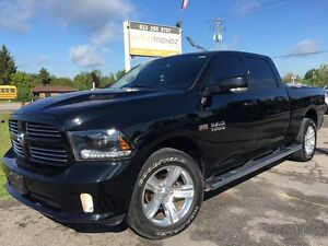 2015 RAM 1500 Sport Black on Black! Absolutely Loaded! NAV! H...