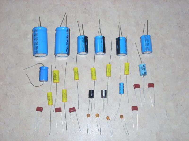 ROCKOLA JUKEBOX STEREO AMP REBUILD CAP CAPACITOR KIT FOR MODELS 414 AND 418