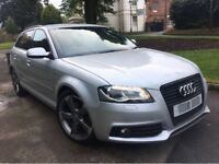 AUDI A3 2.0 TDI S TRONIC DSG BLACK EDITION 170BHP 2011 5 DOOR SPORTBACK FULLY LOADED