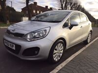 2012 Kia Rio 1.2 Silver 5 door Hatchback 23k miles Full History, New Tyres BLUETOOTH 1 ex owner