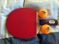 Double Happiness Table Tennis Paddle Racket Bat PF4/C7 Rubber Plus Two Balls