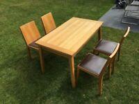 Habitat Oak dining table & chairs