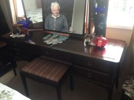 Stag minstral dressing table & stool