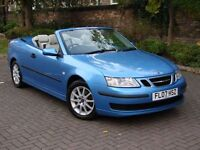 EXCELLENT LOOKS!!! 2007 SAAB 9-3 1.9 TiD LINEAR 150 2dr CONVERTIBLE, HALF LEATHER, 1 YEAR MOT