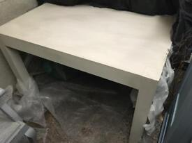 Large solid oak John Lewis Dining Table Painted in Hessian Chalk Paint.