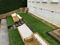 Fencing, decking, driveway, patio, artificial grass, turfing.