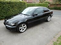 BMW 318 CI ES Auto Coupe, Petrol, Black metallic, Auto, Leather seats, MOT Aug 19, SATNAV, Bluetooth