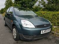Ford Fiesta LX 03 Reg, Low Mileage, Years Mot, Cheap Car