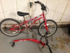 kids bmx bike, also converts to trailer bike