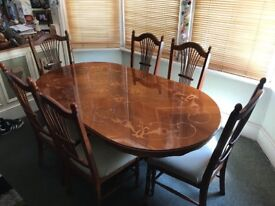 Ornate Family sized dining room table