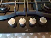 AEG HG694340NB Gas hob - less than two months old
