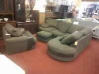 Sofa corner unit & armchair & pouffe tcl 20561