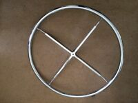 """Circular Chrome Clothes Rail only, 33"""" diameter, New - COLLECTION ONLY"""