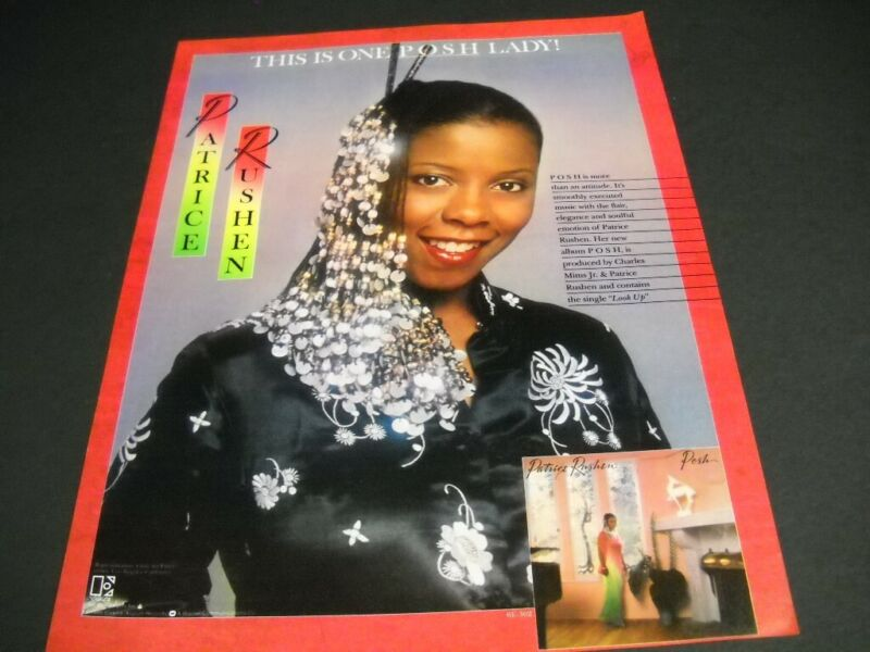 PATRICE RUSHEN This Is One Posh Lady original 1980 PROMO POSTER AD
