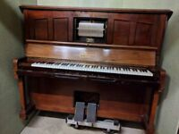 Pianola Piano with propper Pianola stool and lots of Pianola rolls
