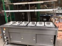 CATERING COMMERCIAL FOOD WARMER BAIN MARIE HOT CUPBOARD HEATED SHELF TAKE AWAY FAST FOOD COMMERCIAL