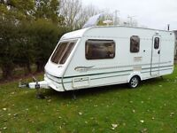 2003 Swift Bridgemere (Harrington special edition) 4 berth caravan with full awning