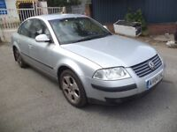 2004 VW Passat 1.9 TDI Diesel 4 Door Saloon in Silver Colour. Mileage is 187 with