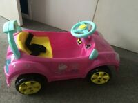 Peppa pig electric car , 1 year old hardly used , comes with charger.