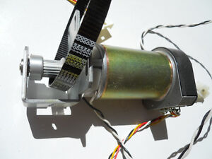 1 Hp 9000 Paper Axis Servo Motor With Drive Pulley And Toothed Belt Ebay
