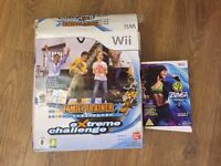 Wii zumba and extreme challeng - game and mat.