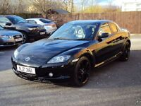 MAZDA RX-8 1.3 192 PS BLACK 2008 4DR PRIVATE PLATE LOW MILEAGE FULLY LOADED WITH F.S.H+LONG MOT3350