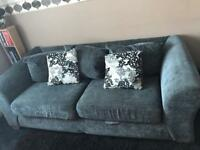 3 seater charcoal grey sofa