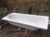 Cast iron, white enamel bath for sale